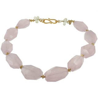 Michael Valitutti Rose and Lemon Quartz Necklace