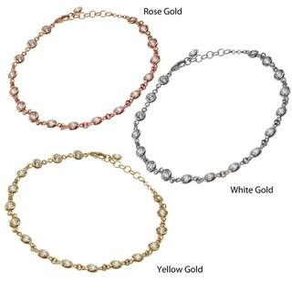 Michael Valitutti Signity 14k Gold Cubic Zirconia Bracelet