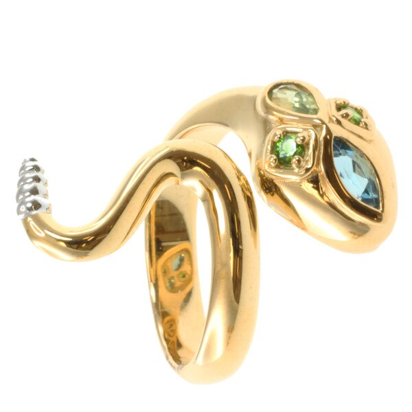 Michael Valitutti/ Colette Topaz, Peridot and Chrome Diopside 'Snake' Ring