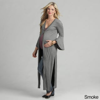 24/7 Comfort Apparel Women's Maternity Jersey Knit Duster Jacket
