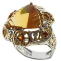 Michael Valitutti Two-tone Citrine, Madeira Citrine and Orange Sapphire Ring