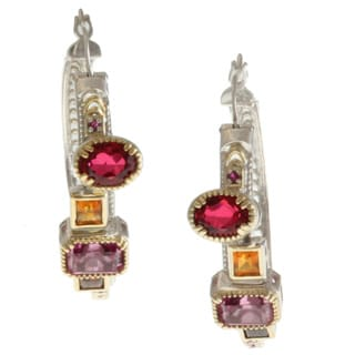 Michael Valitutti Two-tone Multi-gemstone Earrings
