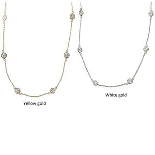 Michael Valitutti 14k Gold Cubic Zirconia Station Necklace