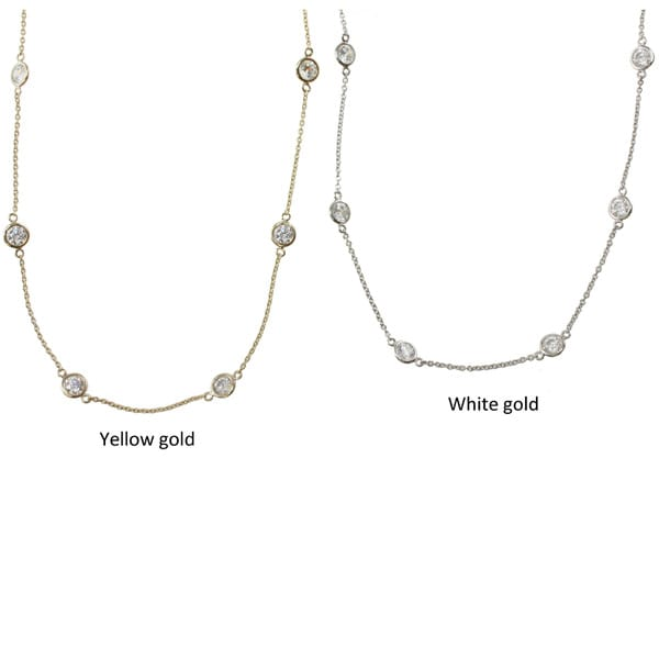 Michael Valitutti Signity 14k Gold Cubic Zirconia Station Necklace