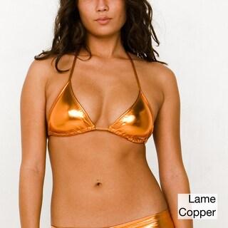 American Apparel Metallic Triangle Swim Top