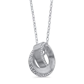 Sterling Silver Diamond Love Knot Swirl Necklace