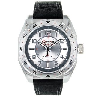 Sector Men's Series 240 Steel/ Leather Watch