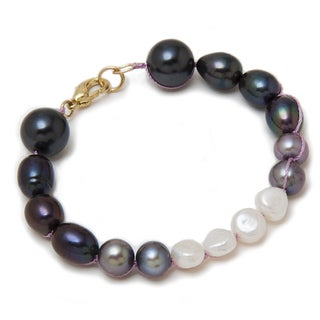 Alex Rae by Peyote Bird Designs Color Blocked Pearl Bracelet