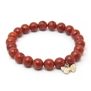 Alex Rae by Peyote Bird Designs Red Sponge Coral Bracelet
