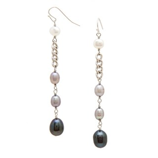 Alex Rae by Peyote Bird Designs Pearl and Chain Dangle Earrings