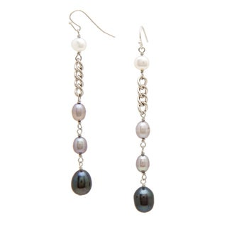 Alex Rae by Peyote Bird Designs Pearl and Chain Dangle Earrings