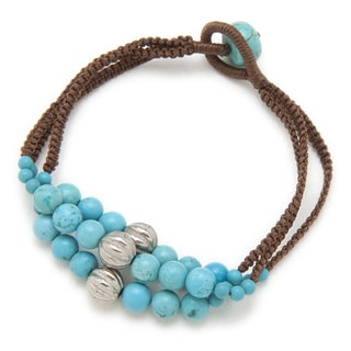 Alex Rae by Peyote Bird Designs Three Strand Howlite Bracelet