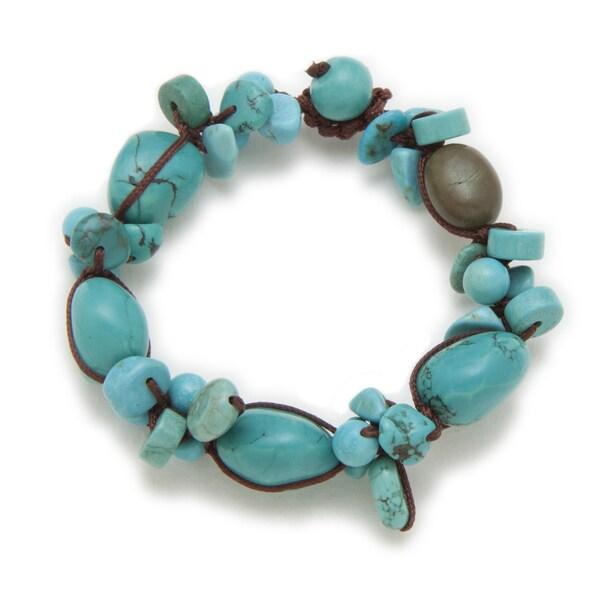 Alex Rae by Peyote Bird Designs Turquoise Organic Design Bracelet