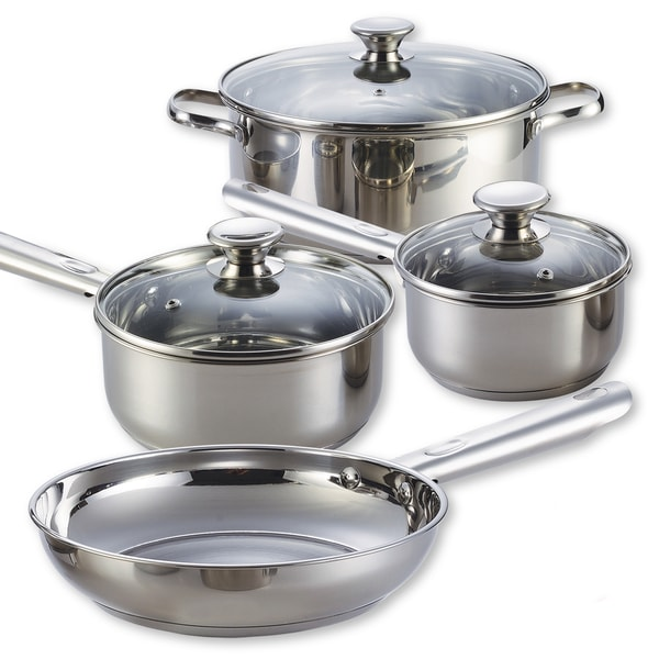 Cook N Home 7-piece Stainless Steel Cookware Set