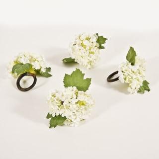 Vibernum White Napkin Rings (Set of 4)