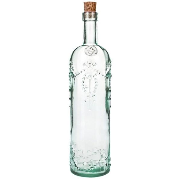 Cordoba Green Glass and Cork Bottles (Set of 2)