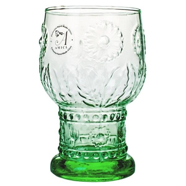 Burlap Green Highball Glasses (Set of 4)