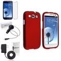 BasAcc Red Case/Screen Protector/Chargers for Samsung Galaxy S3