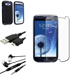 BasAcc Hybrid Case/Screen Protector/Headset for Samsung Galaxy S3