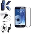 BasAcc Case with Stand/Screen Protector/Charger for Samsung Galaxy S3