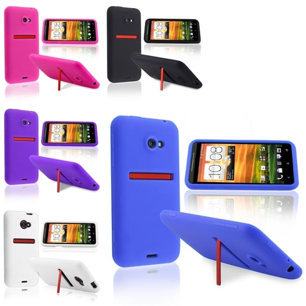 BasAcc Black/ White/ Purple/ Pink/ Blue Skin Case for HTC EVO 4G LTE
