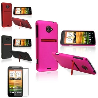 BasAcc Black/ Red/ Hot Pink Snap-on Case/ Protector for HTC EVO 4G LTE