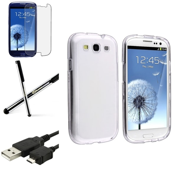 INSTEN Crystal Phone Case Cover/ Screen Protector/ Stylus for Samsung Galaxy S3