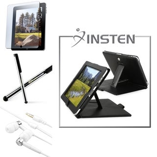 INSTEN Leather Tablet Case Cover/ Headset/ Stylus/ Protector for Apple iPad 1