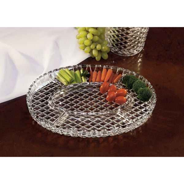 Fifth Avenue Crystal Muirfield Oval Sectional Dish