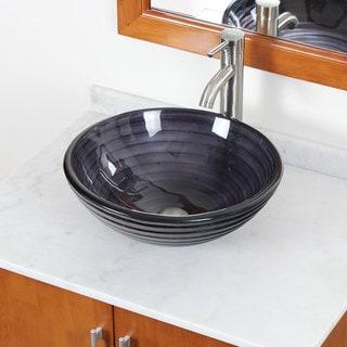 New Bathroom 30Y Tempered Glass Sink Vanity