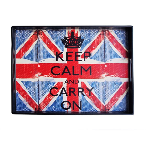 Notions by Jay Louise Carey 'Keep Calm and Carry On' 14x19-inch Tray