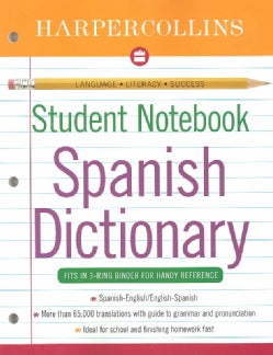 Harpercollins Student Notebook Spanish Dictionary (Paperback)