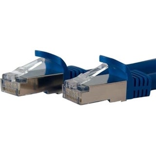StarTech.com 1 ft Blue Shielded Snagless 10 Gigabit RJ45 STP Cat6a Pa