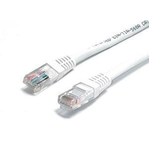 StarTech.com 8 ft White Molded Cat6 UTP Patch Cable - ETL Verified