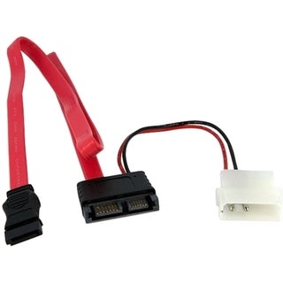 StarTech.com 20in Right Angle Slimline SATA to SATA w/ LP4 Power Cabl