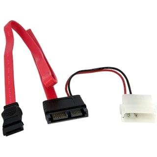 StarTech.com 20in Right Angle Slimline SATA to SATA w/ LP4 Power Cabl