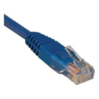 Tripp Lite 4ft Cat5e / Cat5 350MHz Molded Patch Cable RJ45 M/M Blue 4