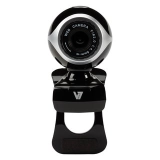 V7 CS0300 Webcam - 0.3 Megapixel - 30 fps - Black, Silver - USB 2.0