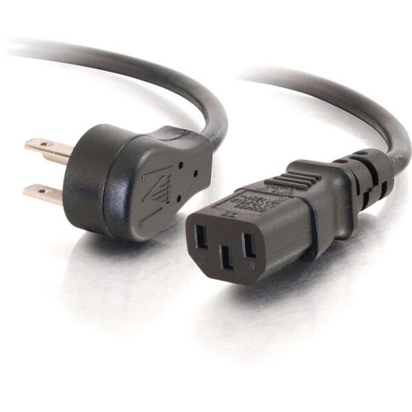 C2G 3ft 18 AWG Universal Flat Panel Power Cord (NEMA 5-15P to IEC320C