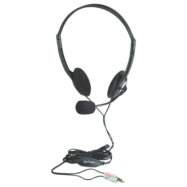 Manhattan Stereo Headset In-Line Volume Control