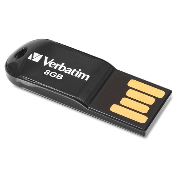 Verbatim 8GB Micro USB Flash Drive - Black