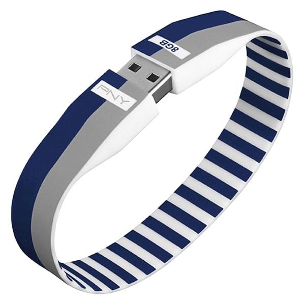 PNY 8GB Bracelet Attaché USB 2.0 Flash Drive