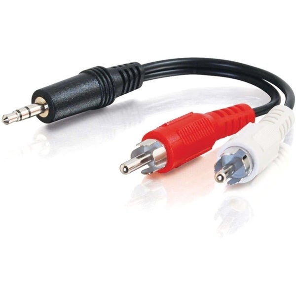 C2G 3ft Value Series One 3.5mm Stereo Male To Two RCA Stereo Male Y-C