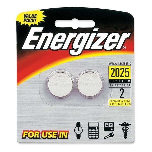 Energizer 2025BP2 Lithium Button Cell 2025 Size General Purpose Batte