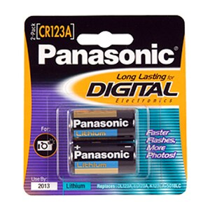 Panasonic CR123A Photo Lithium Battery Pack