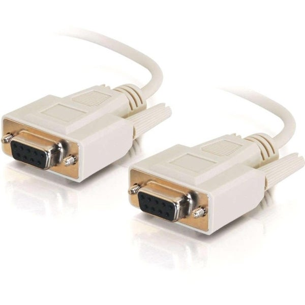 C2G 10ft DB9 F/F Null Modem Cable - Beige