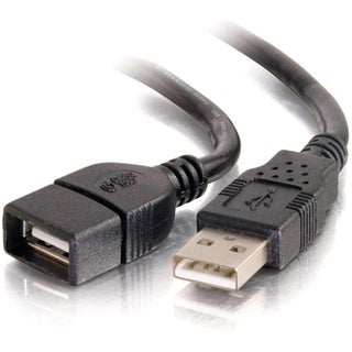 C2G 2m USB 2.0 A Male to A Female Extension Cable - Black