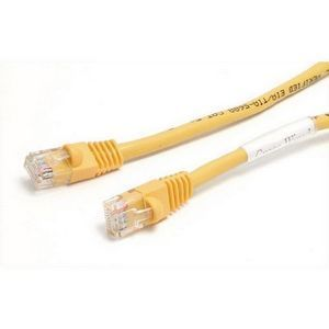 StarTech.com 6 ft Cat5e Yellow Snagless Crossover RJ45 UTP Cat5e Patc