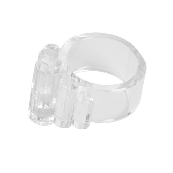 Clear Crystal Napkin Rings (Set of 4)