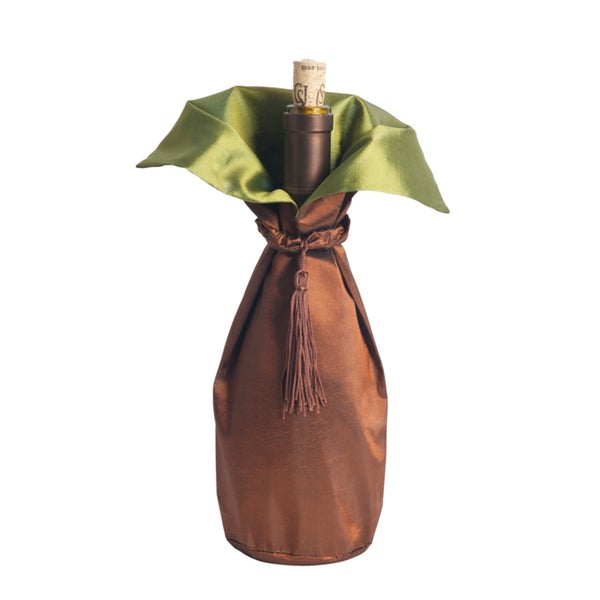 Two-Tone Polyester Wine Bottle Dresses (Set of 3)
